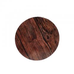 Prato redondo madeira...