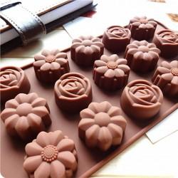 Molde Silicone Rosas e Flores