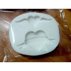 Molde silicone 2 corações...