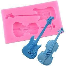 Molde Silicone Guitarra e...