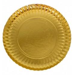 Prato ouro cartolina 28 cm