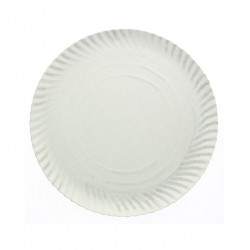 Prato branco cartolina 32 cm